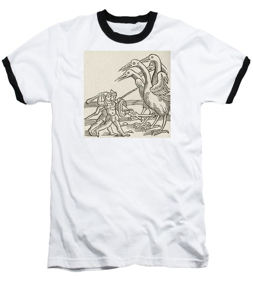 Fight Between Pygmies And Cranes. A Story From Greek Mythology Baseball T-Shirt by English School