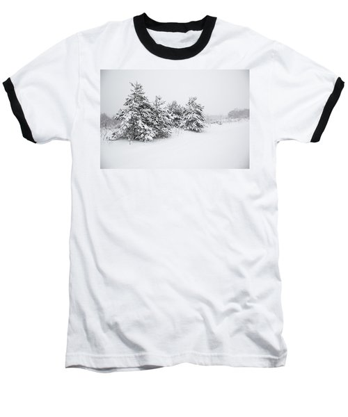 Fir Trees Covered By Snow Baseball T-Shirt
