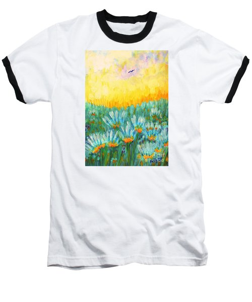 Baseball T-Shirt featuring the painting Firelight by Holly Carmichael