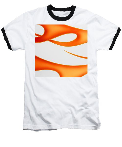 Baseball T-Shirt featuring the photograph Firey Orange by Joe Kozlowski