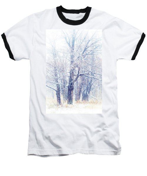 First Snow. Dreamy Wonderland Baseball T-Shirt by Jenny Rainbow