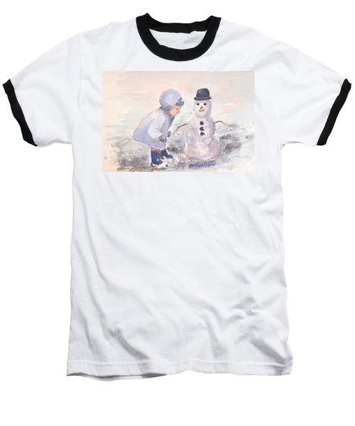 First Snowman Baseball T-Shirt