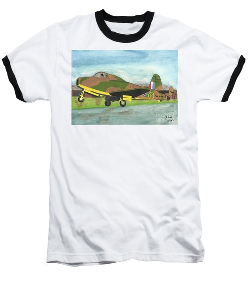Baseball T-Shirt featuring the painting Firstflight by John Williams