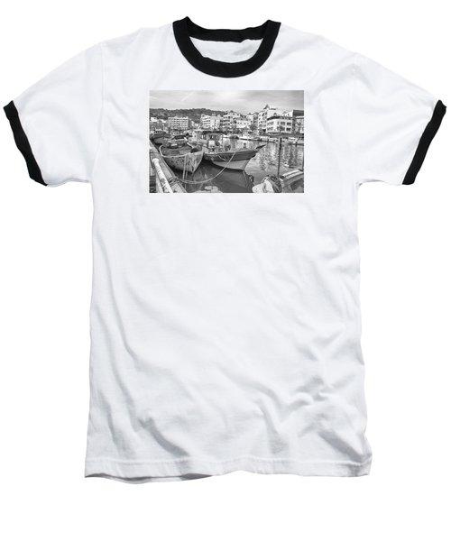 Fishing Boats B W Baseball T-Shirt