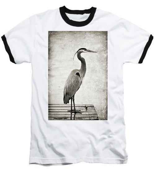 Fishing From The Dock Baseball T-Shirt by Scott Pellegrin