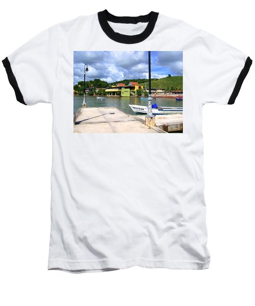 Fishing Village Puerto Rico Baseball T-Shirt