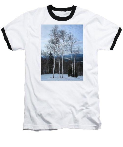 Five Birch Trees Baseball T-Shirt