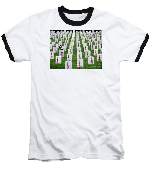 Baseball T-Shirt featuring the photograph Flags Of Honor by Ed Weidman