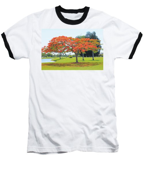 Flame Tree Baseball T-Shirt