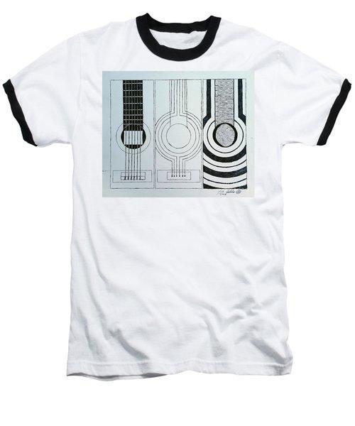 Flamenco Guitar Baseball T-Shirt