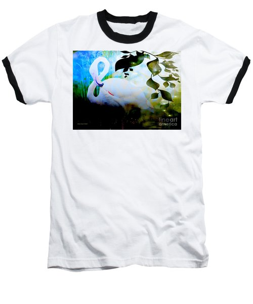 Baseball T-Shirt featuring the photograph Flamingo by Annie Zeno