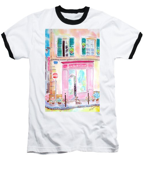 Baseball T-Shirt featuring the painting Fleuriste by Hisayo Ohta