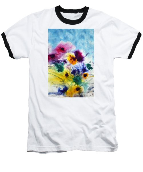 Fleurs Baseball T-Shirt by Joan Hartenstein