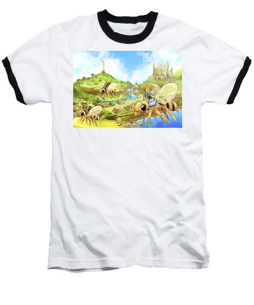 Flight Over Capira Baseball T-Shirt by Reynold Jay