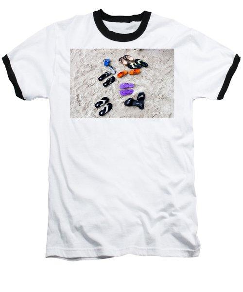 Flip Flops On The Beach Baseball T-Shirt