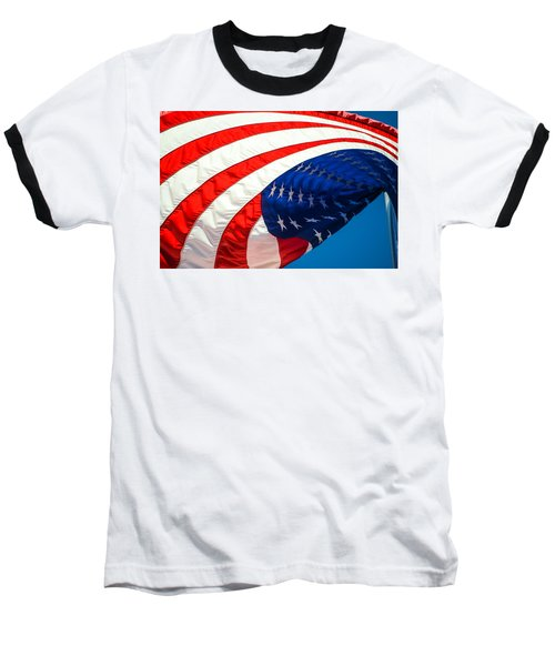 Floating Flag  Baseball T-Shirt