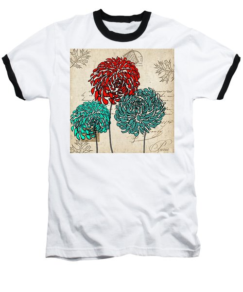 Floral Delight Iv Baseball T-Shirt
