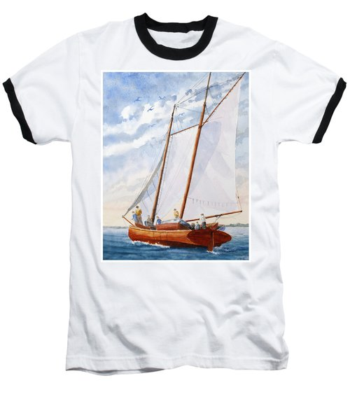 Florida Catboat At Sea Baseball T-Shirt
