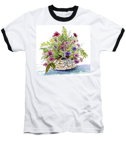 Flower Basket I Baseball T-Shirt