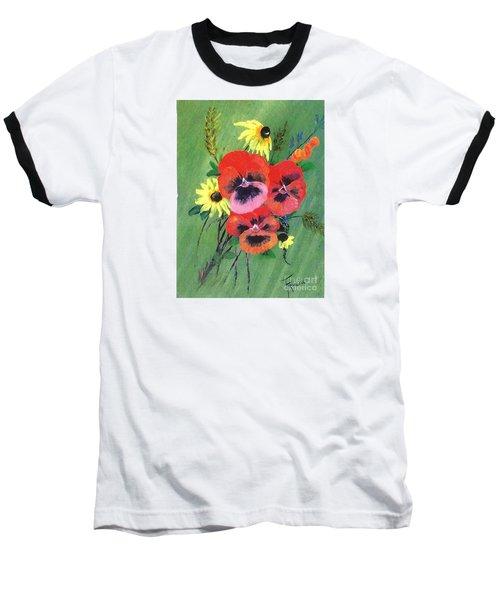 Flower Bunch Baseball T-Shirt by Francine Heykoop