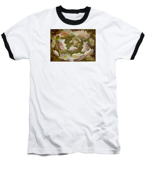 Baseball T-Shirt featuring the photograph Flower Drift by Nareeta Martin