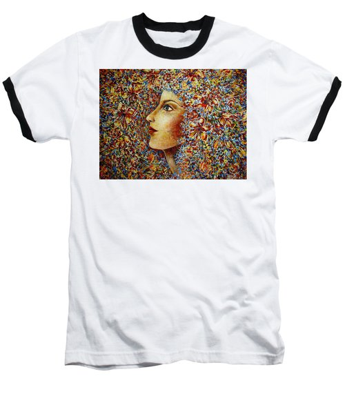 Flower Goddess. Baseball T-Shirt