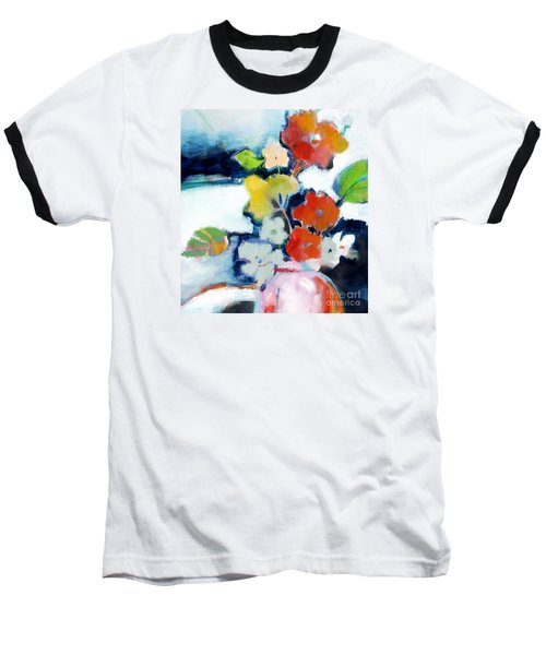Baseball T-Shirt featuring the painting Flower Vase No.1 by Michelle Abrams