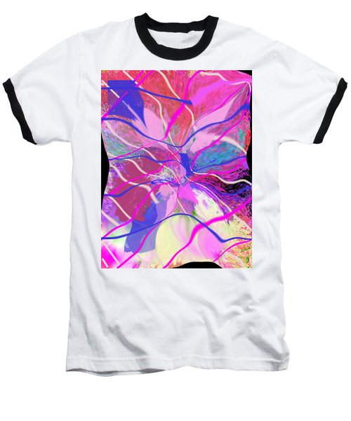Original Contemporary Abstract Art Flowers From Heaven Baseball T-Shirt
