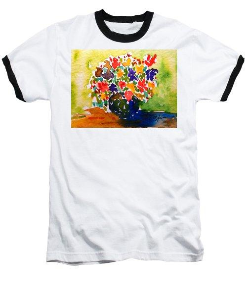 Flowers In A Vase Baseball T-Shirt