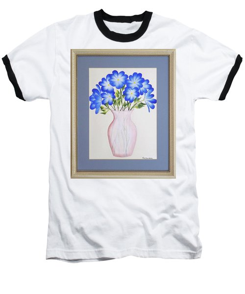 Flowers In A Vase Baseball T-Shirt by Ron Davidson