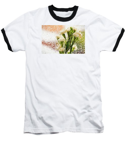 Flowers In Digital Impasto Baseball T-Shirt