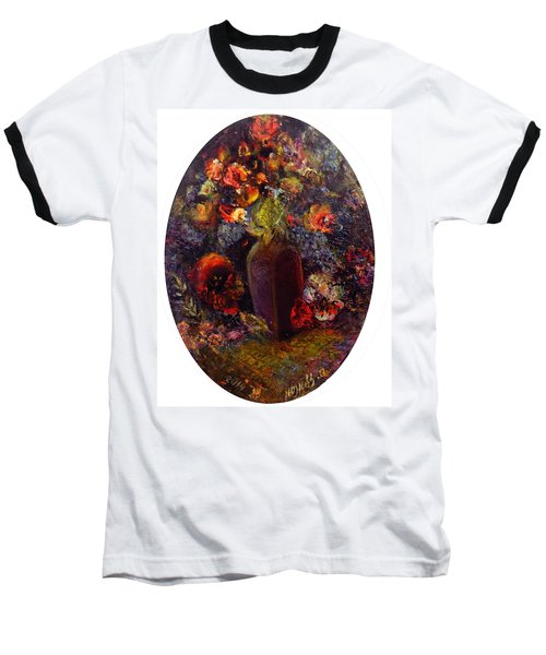 Flowers In Vase Baseball T-Shirt