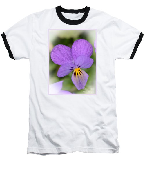 Flowers That Smile Baseball T-Shirt by Kerri Farley