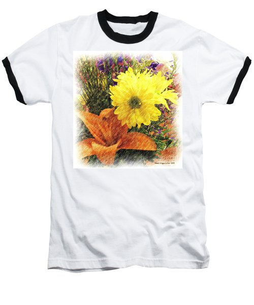 Baseball T-Shirt featuring the photograph Flowers With Love by Luther Fine Art