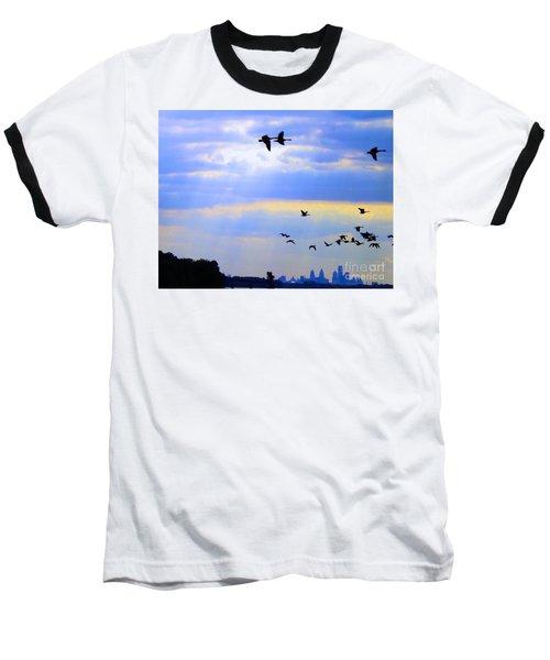 Fly Like The Wind Baseball T-Shirt
