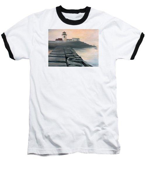 Fog Burning Off Baseball T-Shirt by Eileen Patten Oliver