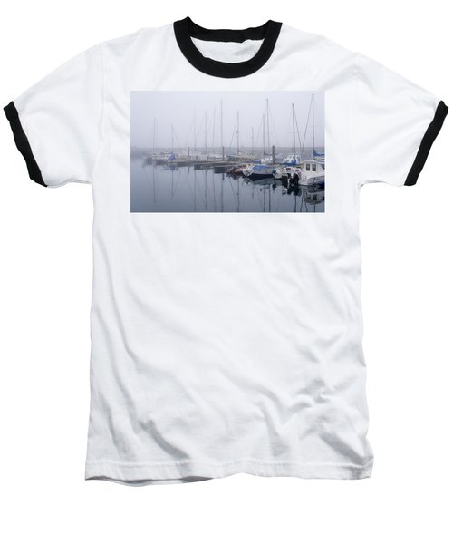 Fog In Marina I Baseball T-Shirt
