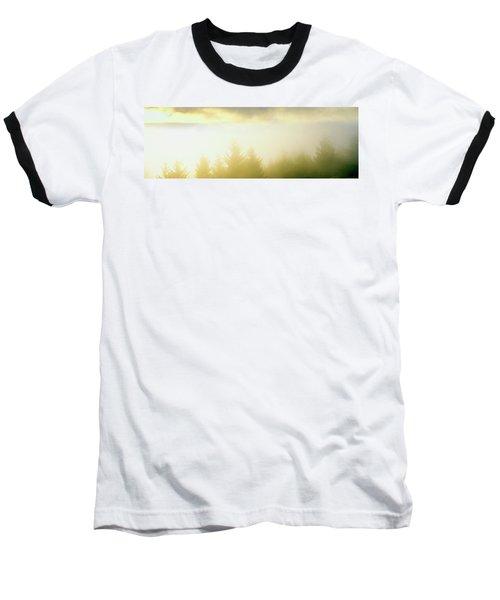 Fog Over Trees, Grasshopper Peak Baseball T-Shirt