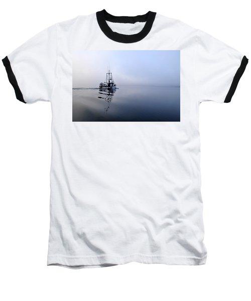 Foggy Baseball T-Shirt by Cathy Mahnke
