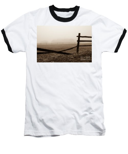 Foggy Pasture Baseball T-Shirt