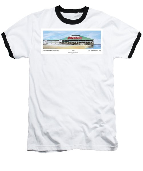 Folly Beach Original Pier Baseball T-Shirt