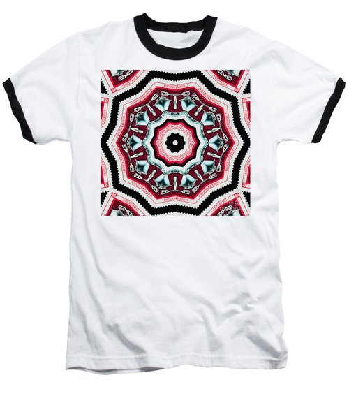 Food Mixer Mandala Baseball T-Shirt by Andy Prendy