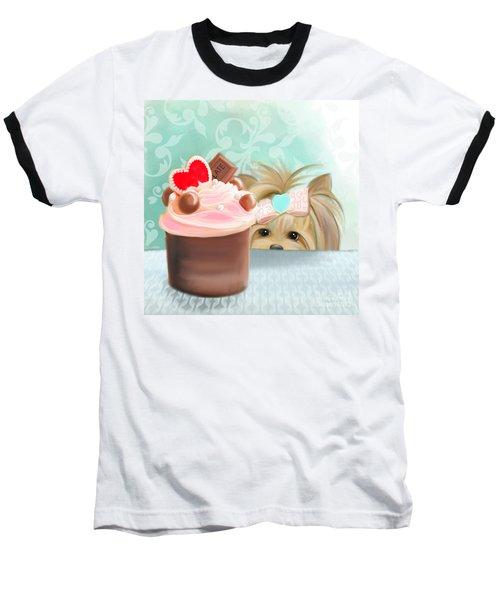 Forbidden Cupcake Baseball T-Shirt