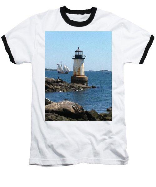 Fort Pickering Light Baseball T-Shirt by Denyse Duhaime