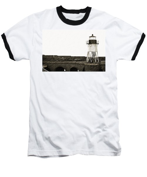 Fort Point Lighthouse Baseball T-Shirt