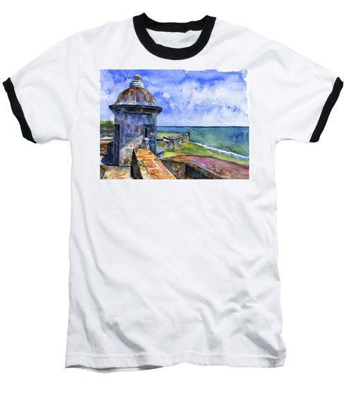 Fort San Juan Puerto Rico Baseball T-Shirt by John D Benson