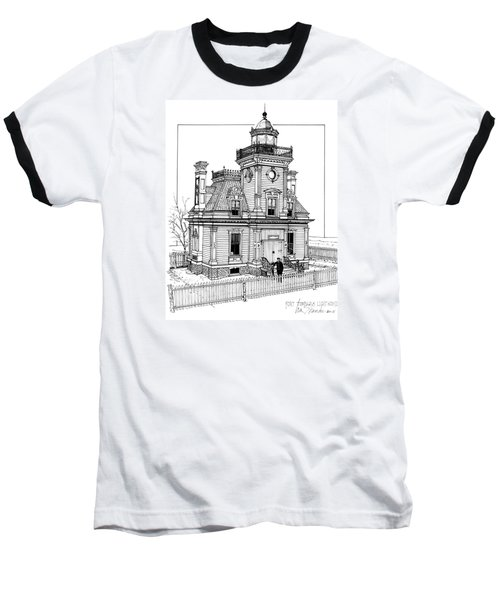 Fort Tompkins Lighthouse Baseball T-Shirt
