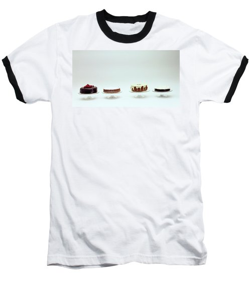 Four Cakes Side By Side Baseball T-Shirt