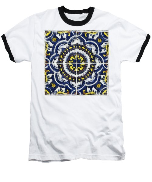 Four Painted Tiles-mexico Baseball T-Shirt by Michael Flood