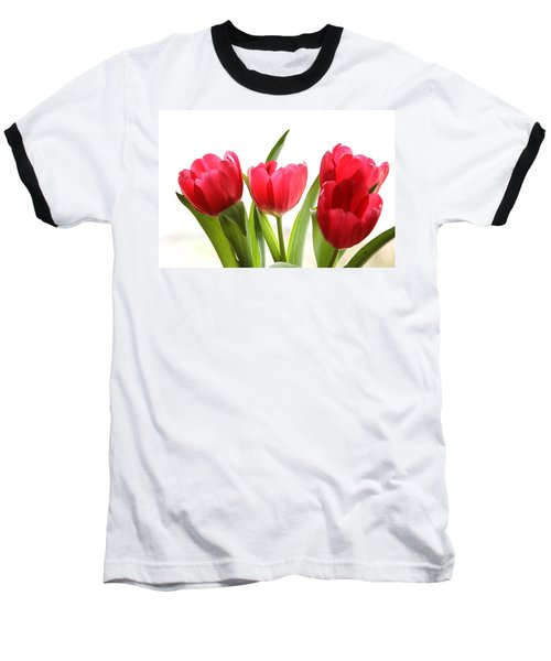 Four Tulips Baseball T-Shirt